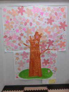 壁に大きな桜を咲かせよう